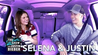 Selena gomez and justin bieber carpool karaoke this is how we would've imagine it would go. subscribe for more!