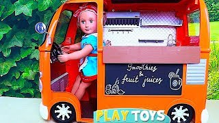 OG Doll Food Truck with Kitchen Toys for Dolls