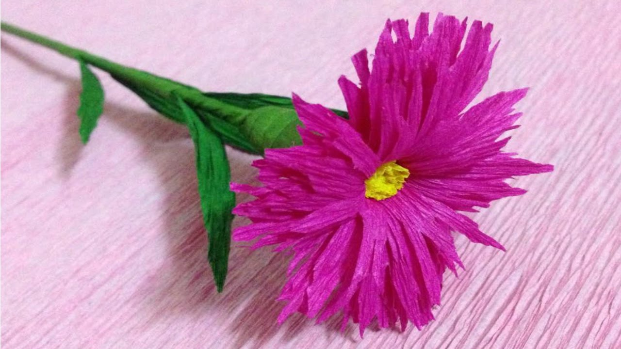 How to make crepe paper flowers flower making of crepe paper how to make crepe paper flowers flower making of crepe paper paper flower tutorial mightylinksfo