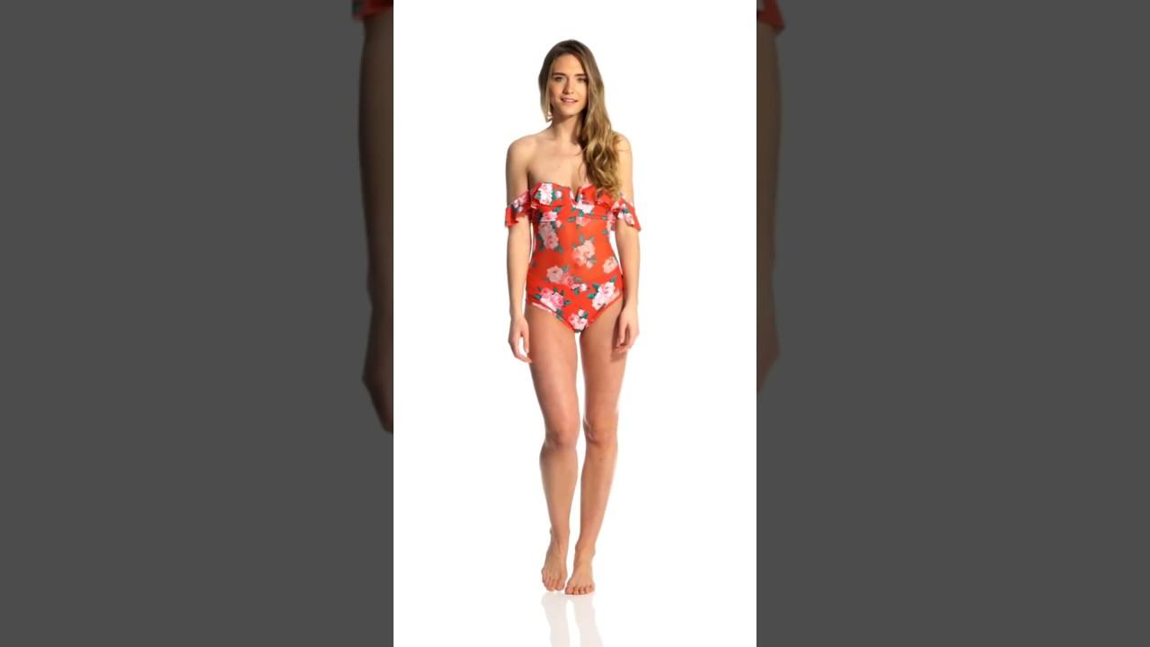 09e28ebd73c Betsey Johnson Rose Fantasy One Piece Swimsuit | SwimOutlet.com ...