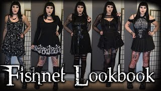 Goth fishnet lookbook - 5 outfits (2018)