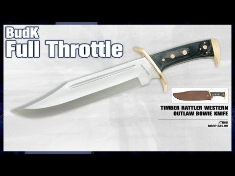 Timber Rattler Western Outlaw Bowie Knife - $19.99