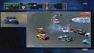 Monster Energy NASCAR Cup Series 2017. Sonoma Raceway. A.J. Allmendinger Crash