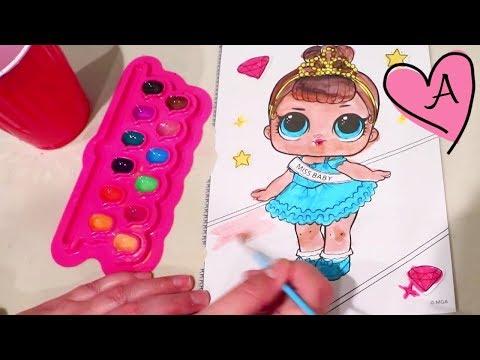 Challenge! Reto de pintar LOL Surprise falsas | Muñecas y juguetes con Andre para niñas y niños