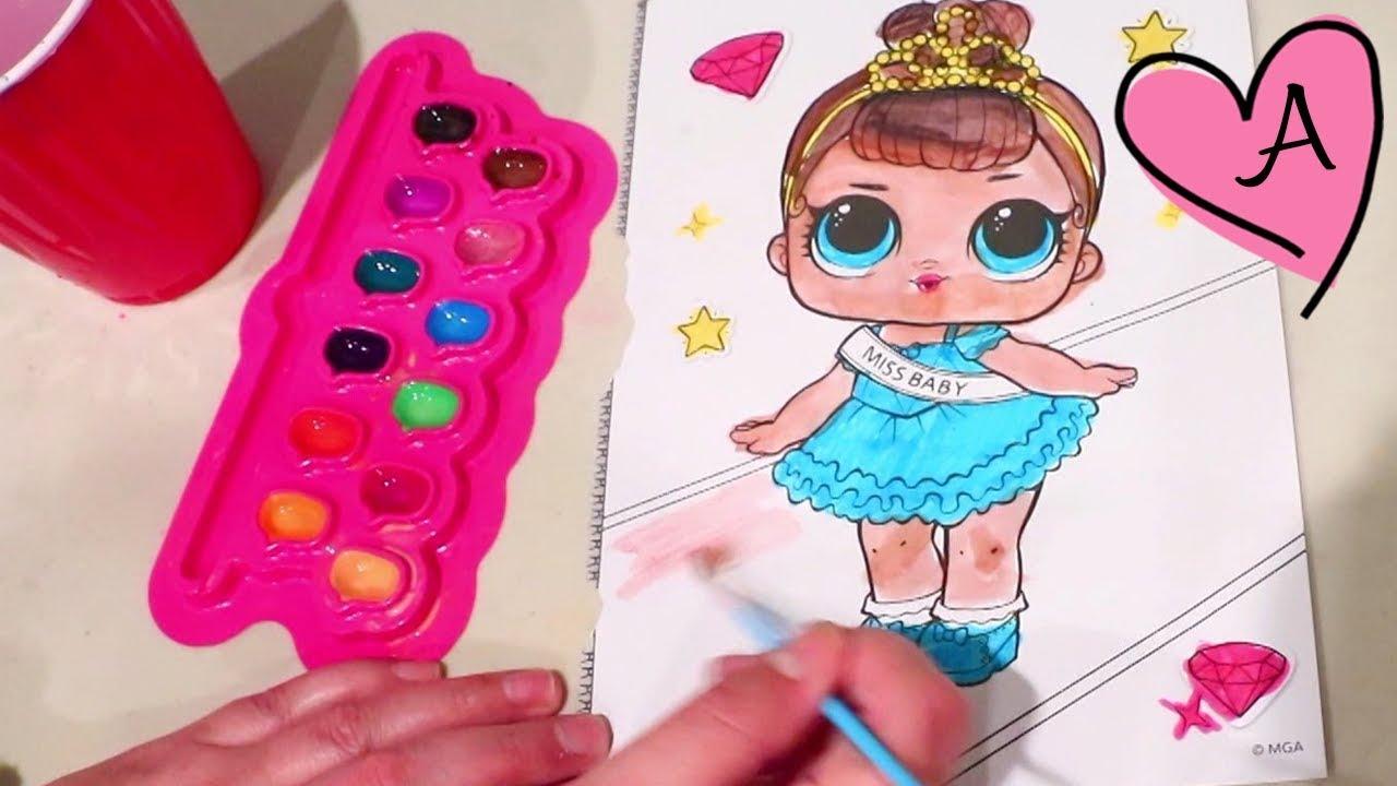 Challenge Reto De Pintar Lol Surprise Falsas Muñecas Y Juguetes Con Andre Para Niñas Y Niños