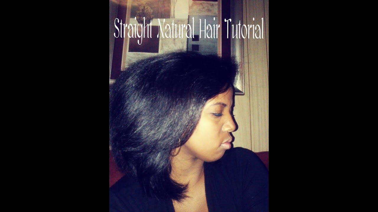 Straight Natural Hair - YouTube