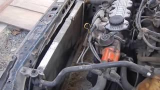 Опель Кадет (Як зняти радіатор системи охолодження) Opel Kadet