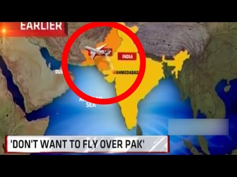 Indian Airlines Don't Want To Fly Over Pakistan