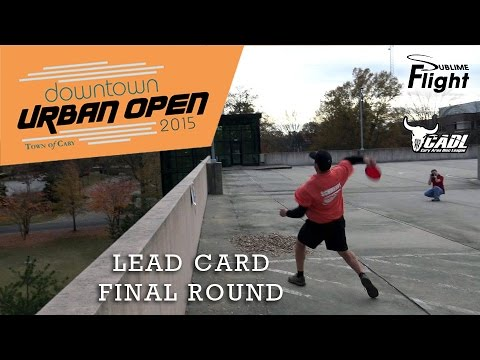 Downtown Urban Open 2015 Final Round CADL Disc Golf Tournament Cary DUO
