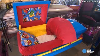 Customized caskets built for 5 children lost in house fire