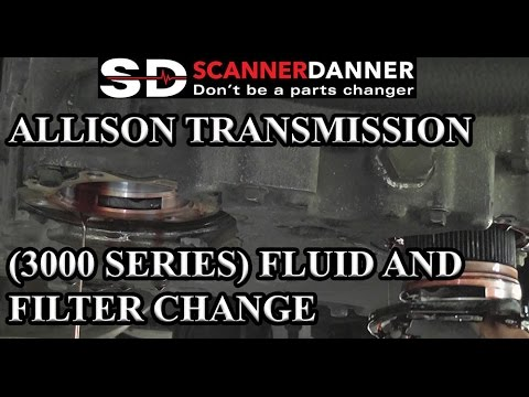 Allison Transmission (3000 series) fluid and filter change  2001 American Coach  YouTube
