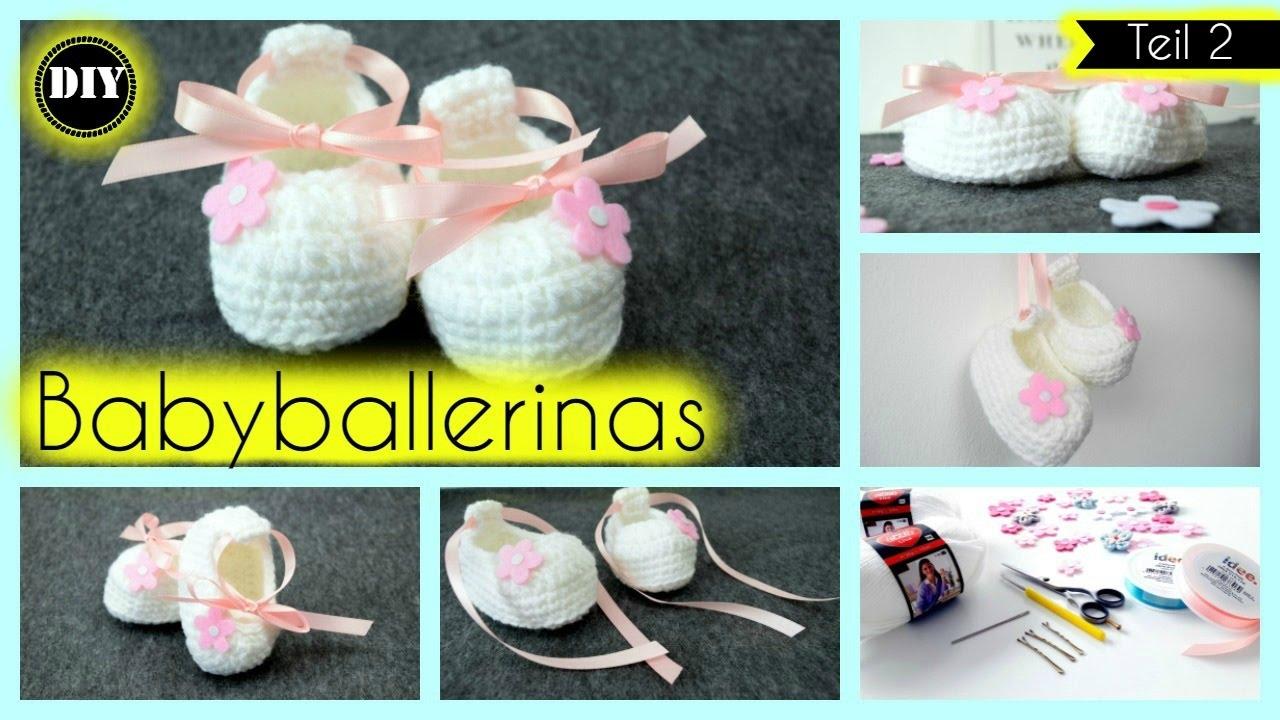Babyballerinas häkeln, Babyschuhe für Anfänger -Teil 2- »Lalalunia ...