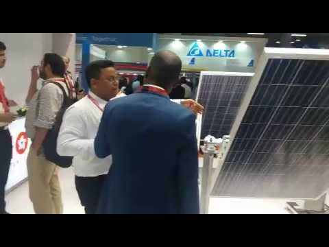 Vikram Solar booth at Renewable Energy India Expo 2016