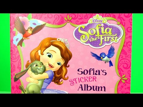 Disney Junior Princess Sofia The First Super Sticker Pack Opening & Album Toy Review + Cinderella