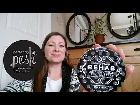 Rehab solid lotion bar perfectly posh review