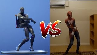 SPIDER MAN DOES FORTNITE DANCES IN REAL LIFE!!!