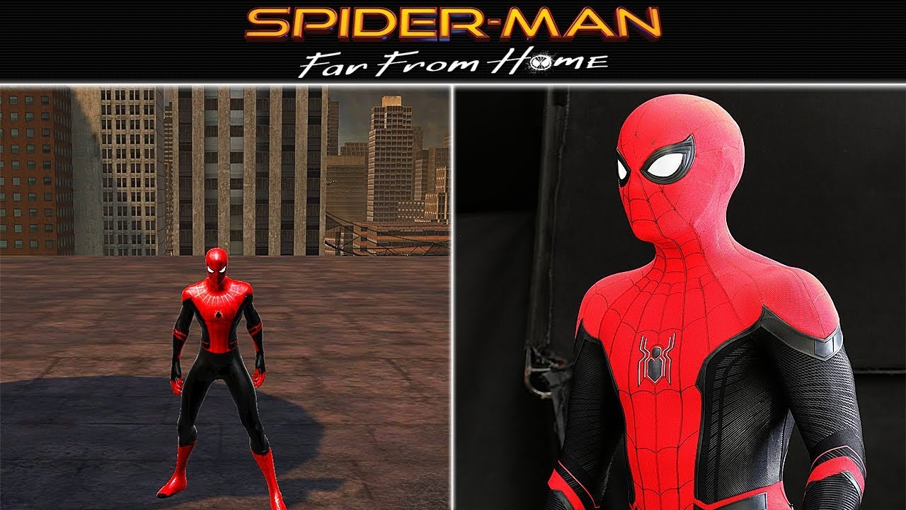 Spider Man Far From Home 2019 Suit Web Of Shadows Mod Youtube