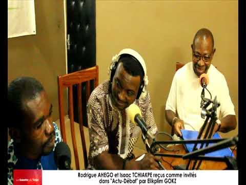 Rodrigue AHEGO et Isaac TCHIAKPE reçus comme invités dans « Actu-Débat » par Elikplim GOKA