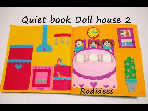 Quiet Book Doll House 2