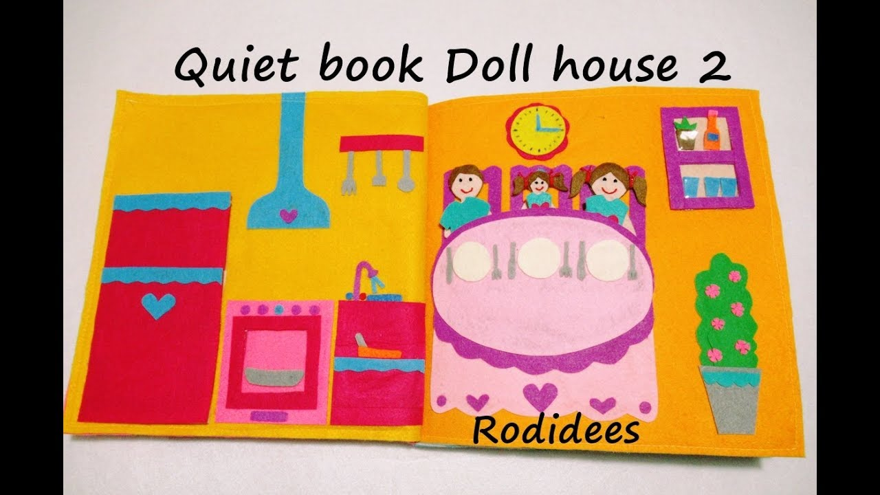 Quiet Book Doll House 2 Youtube