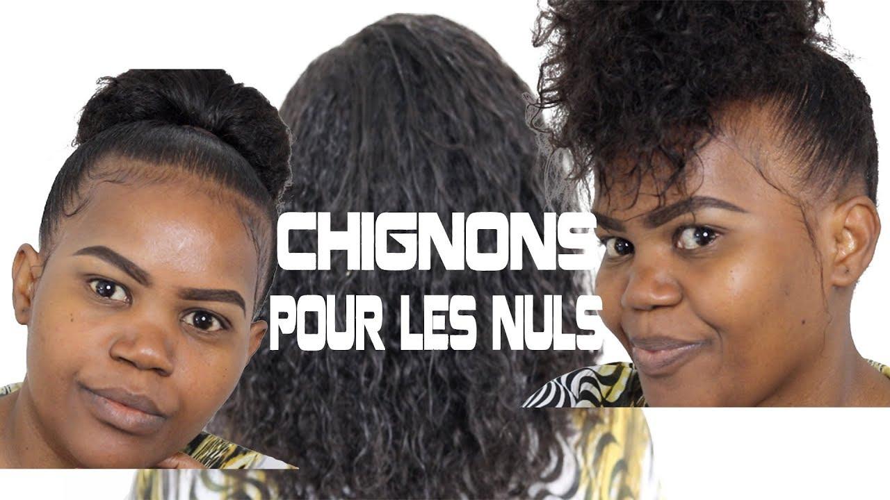 Chignon facile sur Cheveux Crépus, Frisés et Bouclés #SAKINA - YouTube
