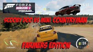 Forza Horizon 2 Storm Island Rampage Scooby Doo VS MINI Countryman Awesome Overtake Jumps