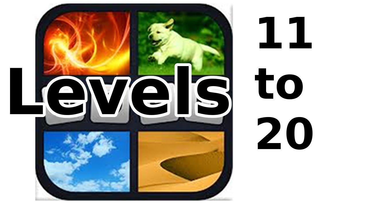 4 Pics 1 Word Level 11 To 20 Walkthrough Youtube