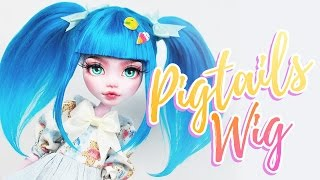 How to Make a Doll Wig | Pigtails | Mozekyto #5
