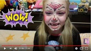 Хеловін грим, макіяж на Хеловін. Аквагрим Дракулаура, Леді Баг,Твайлайт Спаркл. Відео для дітей