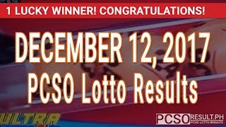 PCSO Lotto Results Today December 12, 2017 (6/58, 6/49, 6/42, 6D, Swertres, STL & EZ2)