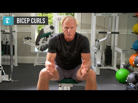 Greg Norman workout series - No.1 - Bicep concentration curl