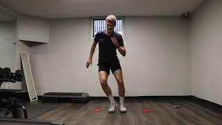 Переступание фишек с быстрой перестановкой ног