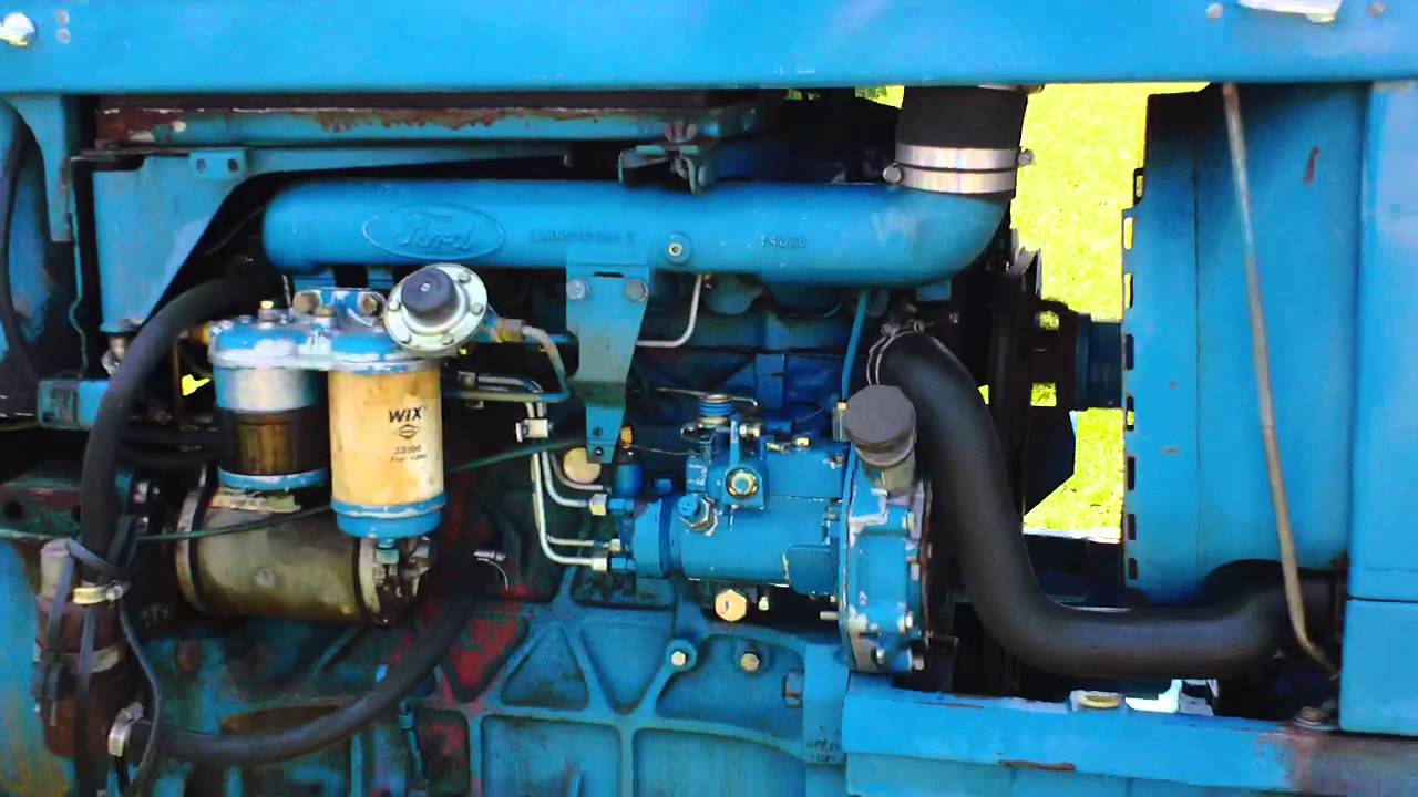 4600 Ford Tractor Wiring Diagram Ford 5000 Diesel Youtube