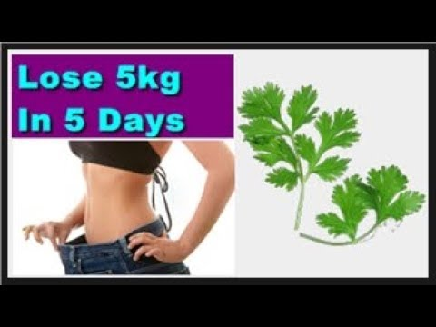 Lose 10 Pounds Fast in 5 Days | Drink Coriander juice on empty stomach every morning