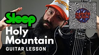 Matt Pike Guitar Lesson - Sleep - Holy Mountain