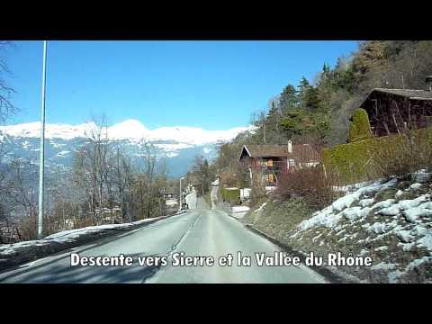 Switzerland 120 (Camera on board): Vissoie (VS) to Sierre, Val d'Anniviers