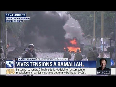 Jérusalem : de la tension et des affrontements actuellement à Ramallah