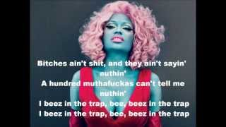 Beez in the Trap - Nicki Minaj Feat. 2-Chainz (lyrics) FASTER VERSION!