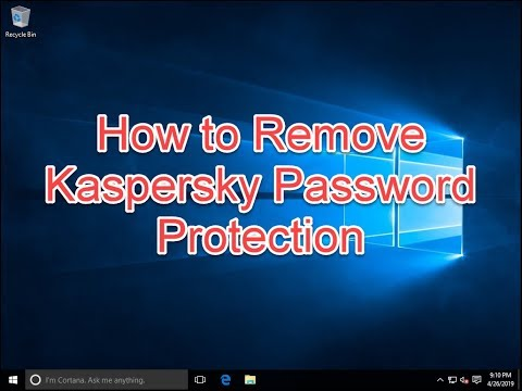Remove Kaspersky with password protection - Forgot Password (Step by step) !!!