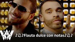 Bella Remix, Wolfine y Maluma - Flauta dulce con notas