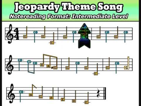jeopardy theme noteread music w shapes colors on piano youtube. Black Bedroom Furniture Sets. Home Design Ideas