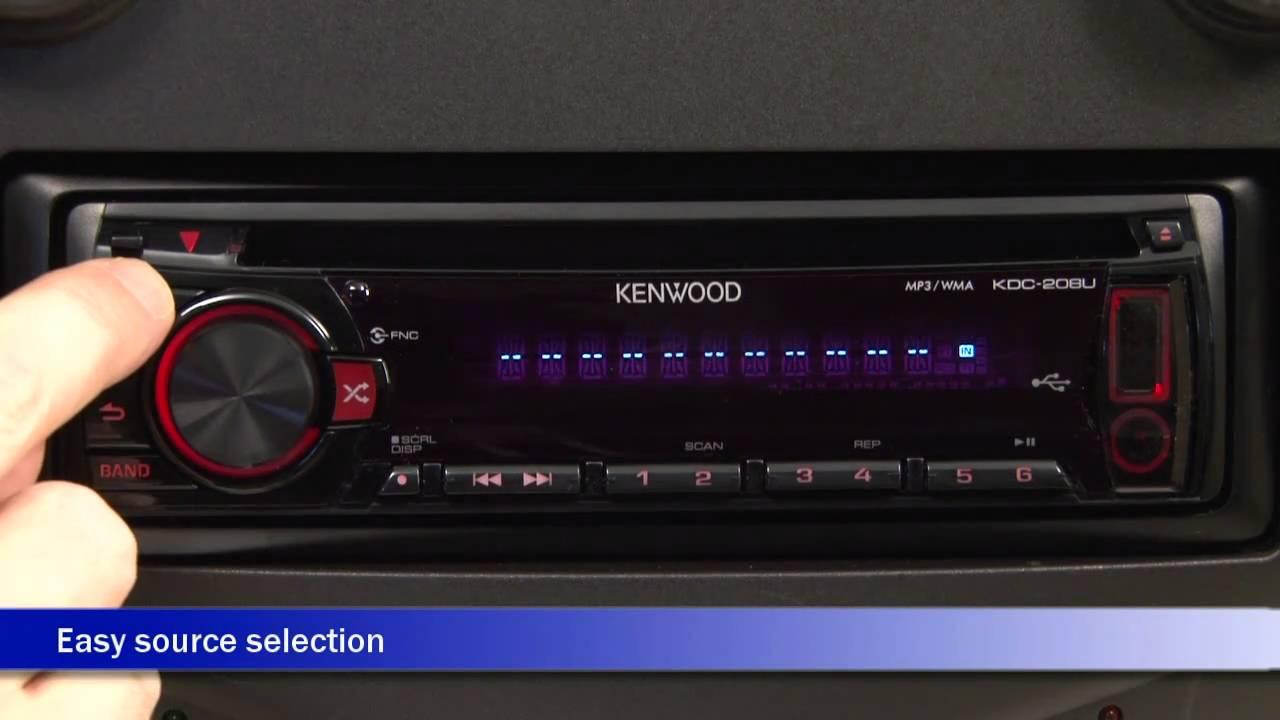 Kenwood KDC-208U Car Receiver Display and Controls Demo | Crutchfield Video