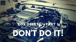 EGR Delete? - Don't Do It! 5 Reasons Why