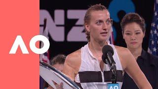 Petra Kvitova's emotional speech (F) | Australian Open 2019
