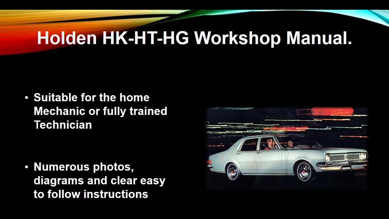 Holden Hk - Ht - Hg 1968-1971 Workshop Manual