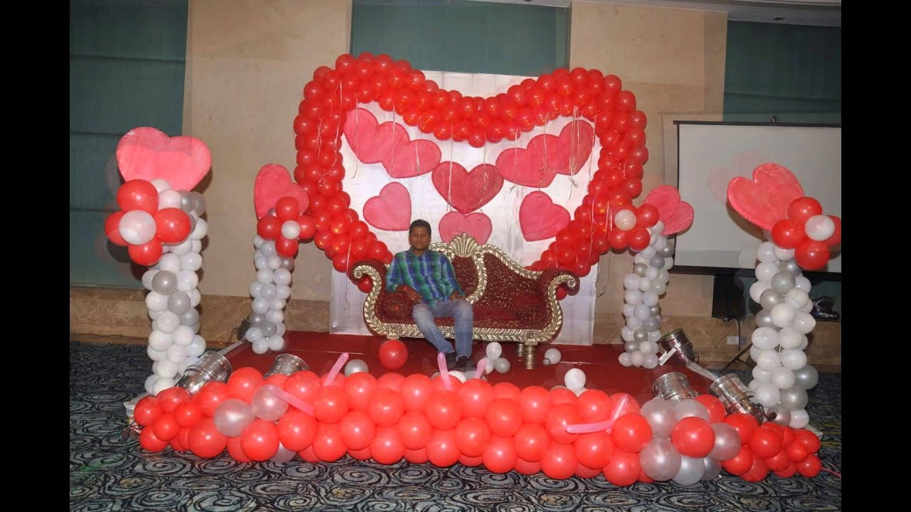 25th anniversary balloon decoration by 17 degree event for 25th wedding anniversary stage decoration
