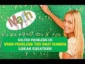 Solved Problems on Two Digit Numbers Linear Equations