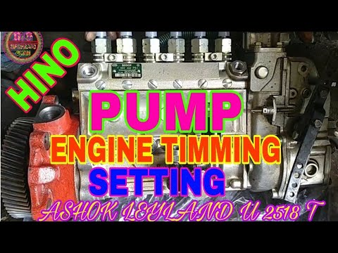 How To Pump Engine Timming For Ashok Leyland U 2528 T, By Mechanic Gyan,
