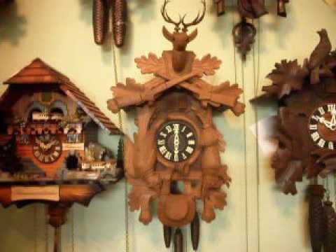 Blue Danube Playing Large Hunter 1 Day Cuckoo Clock