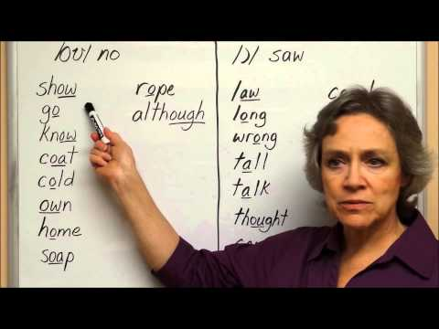 English Vowels  /oʊ/ no and /ɔ/ saw - American English Pronunciation -  American Accent